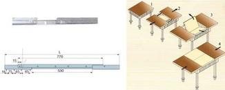 HMR 088 направляющие для стола 0,88 м.