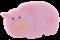 Ручка кнопка RC515 розовая(хрюша)