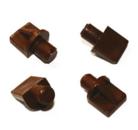 Полкодержатель пластик коричневый
