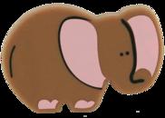Ручка кнопка RC510 коричневая(Слон)