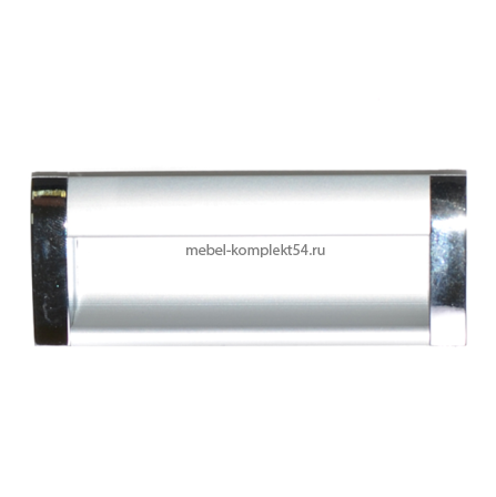 Ручка-купе к033-128 128мм (хром/серебро)