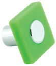 Ручка кнопка RC516 зеленая(квадрат)