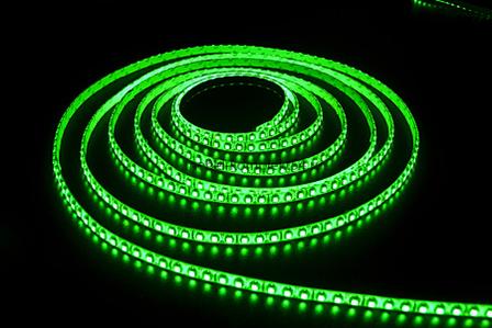 Светодиодная лента 3528В-60 W 5м 60smd/m 12В 4,8Вт/м 5лм, зелёный