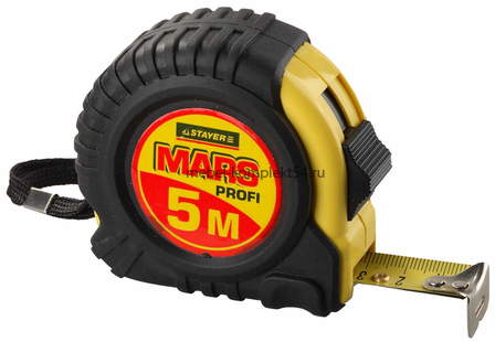 "34131-05-19 Рулетка STAYER ""MARS"" 5м*19мм,"
