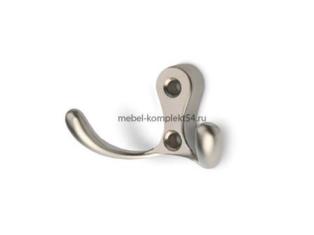 Крючок 10 двойной малый, матовый никель