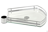 РТJ016-29 Полка сектор стекло 30гр L425*W350*H60