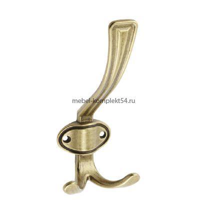 Крючок мебельный CORUNA, большой, старое золото