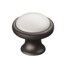 Ручка-кнопка c фарфором, серый