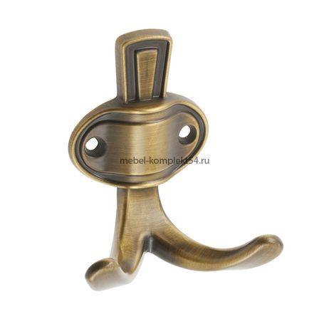 Крючок мебельный CORUNA, маленький, коричневый