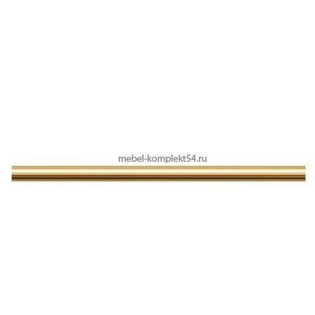 Декоративный самоклеющийся профиль 7мм золотой, 2м