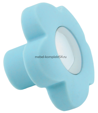 Ручка кнопка RC518 голубой(цветок)