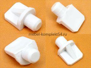 Полкодержатель пластик белый
