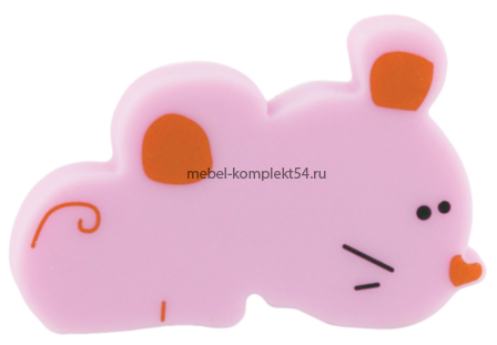 Ручка кнопка RC509 розовая (мышка)