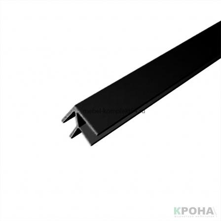 """Планка для панелей """"Скиф"""" 6мм, угловая 600мм, Чёрная"""