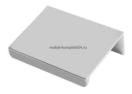Ручка мебельная алюминиевая HEXI 32мм/50мм, алюминий