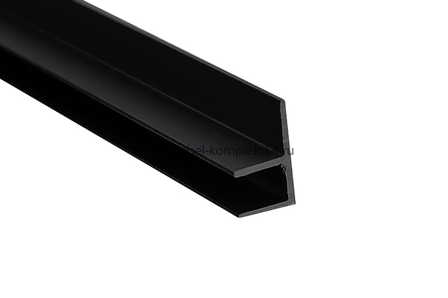 """Планка для панелей """"Скиф"""" 6мм, F-угловая* 600мм, Черная"""