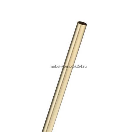 Рейлинг 16 мм, длина 1200 мм, бронза