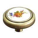 Ручка кнопка 734 ст. бр+кремовый