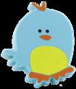 Ручка кнопка RC511голубая(птичка)