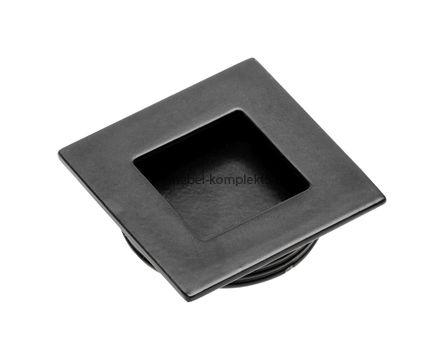 Ручка врезная квадратная 40х40 мм. UZ В226 черный