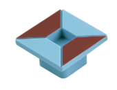 Ручка кнопка RC514 коричнево-голубой(квадрат)