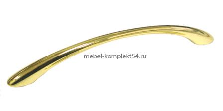 Ручка-скоба 8211, золото, 128мм