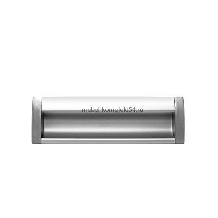 Ручка мебельная алюминиевая UA-OO-326/128 алюминий