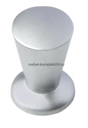 Ручка кнопка 1172 матовый хром
