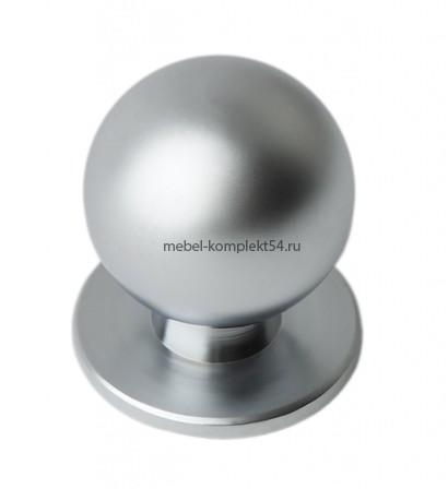 Ручка кнопка 8354,  матовый хром