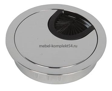 Заглушка для кабель-канала Д-60мм, металл, хром