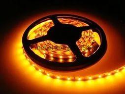 Светодиодная лента 3528В-60 W 5м 60smd/m 12В 4,8Вт/м 5лм, жёлтый