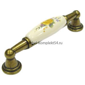 Ручка-скоба 742-96мм ст.бронза+крем 22