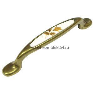 Ручка-скоба 745-96мм ст.бронза+белый 133