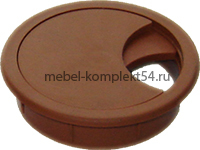 Розетка для компьютерного стола коричневая