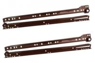 Направляющие д/ящ. 350мм коричневый