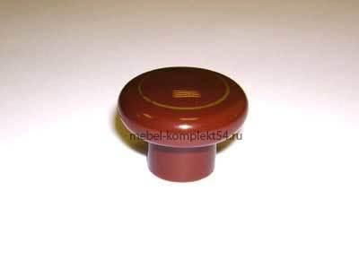 Ручка кнопка Д34 коричневый с золотом